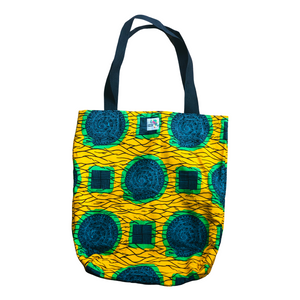 Circles & Squares Cloth Tote Bag