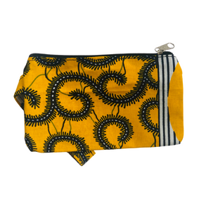 Yellow with Vines Wristlet