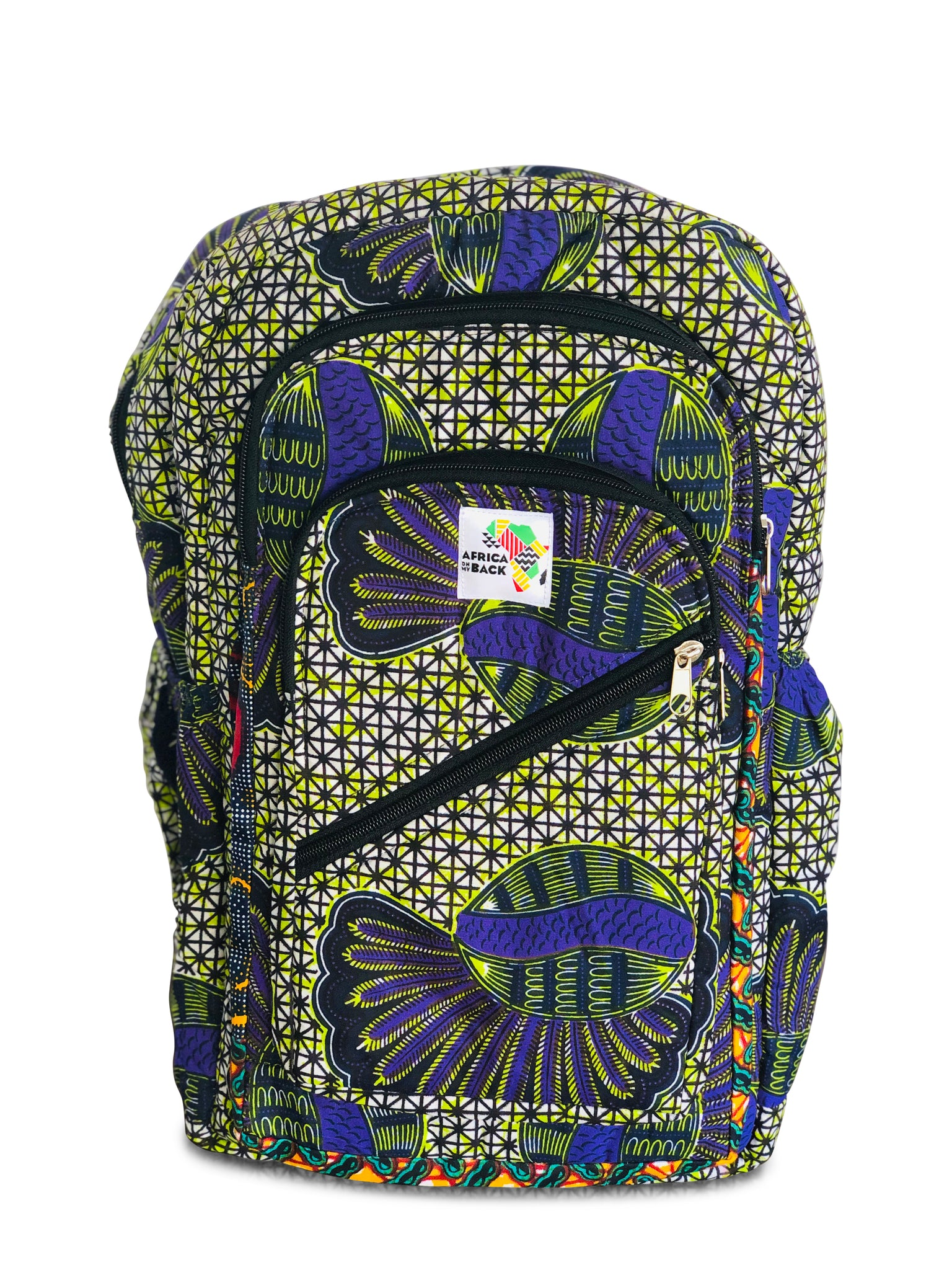 Purple Shells Full Size Backpack