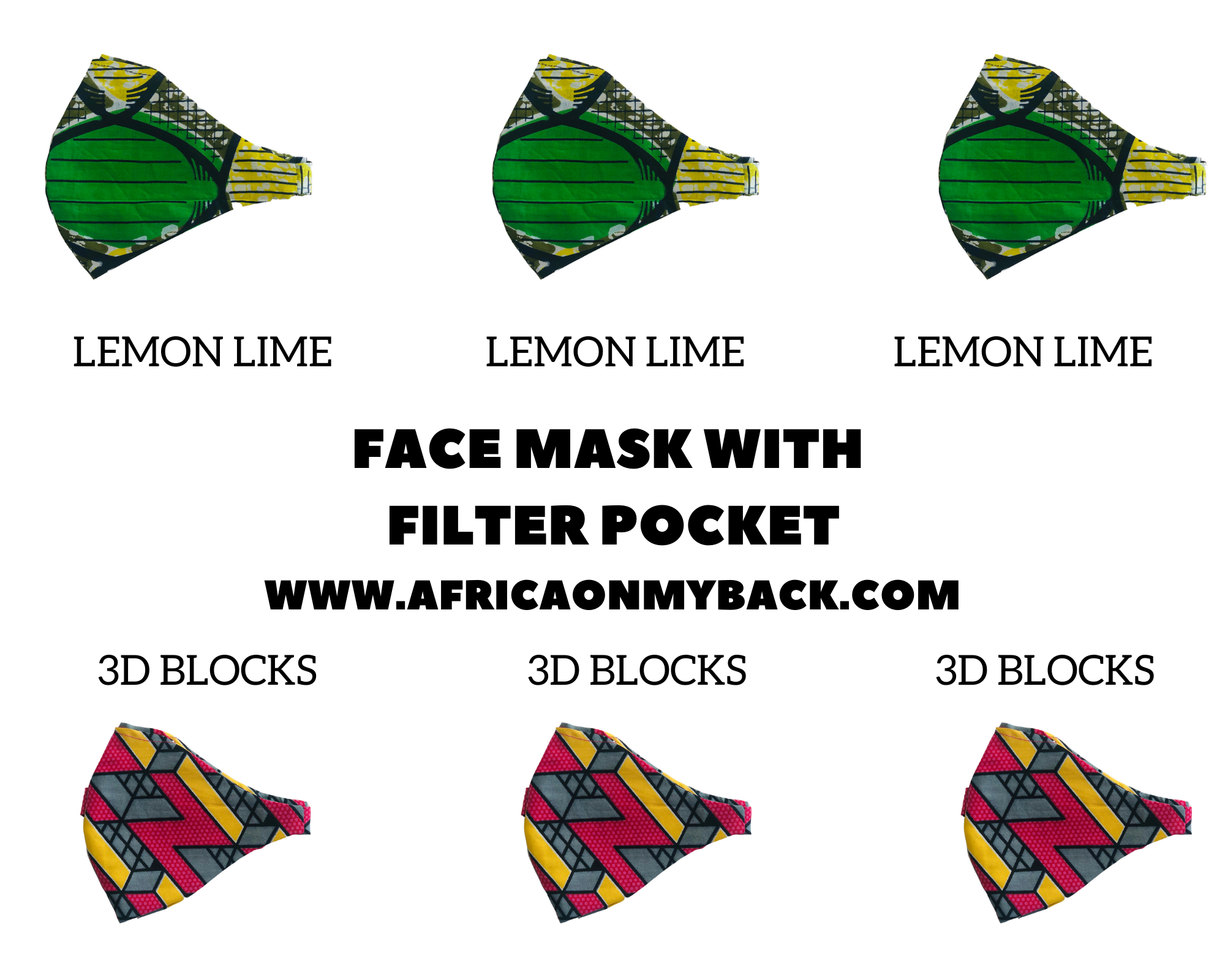 Fashion Face Mask|Ankara Print|African Print|