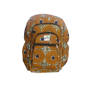 Game Changer - Orange and Tan Full Size Backpack