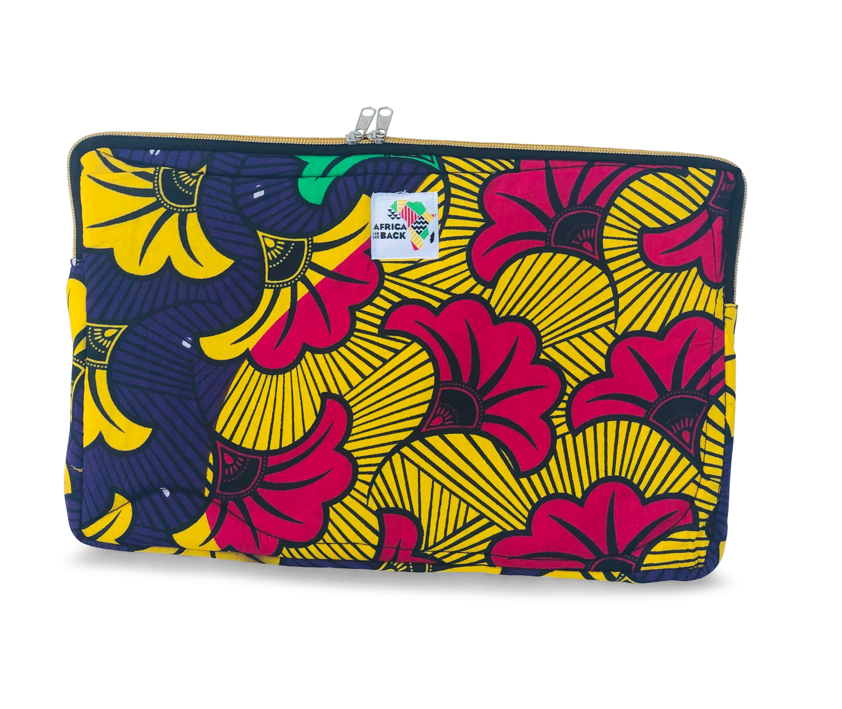 "14"" Purple & Fuchsia Flowers Laptop Sleeve"