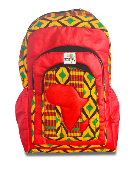 Limited Edition Africa Full Size Backpack (Red Continent)