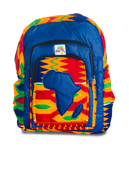 Limited Edition Africa Full Size Backpack (Blue Continent)