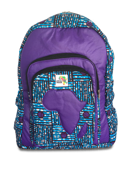 Limited Edition Africa Full Size Backpack (Purple Continent)