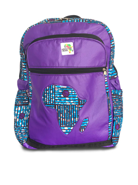Limited Edition Africa Full Size Backpack (Blue Purple)