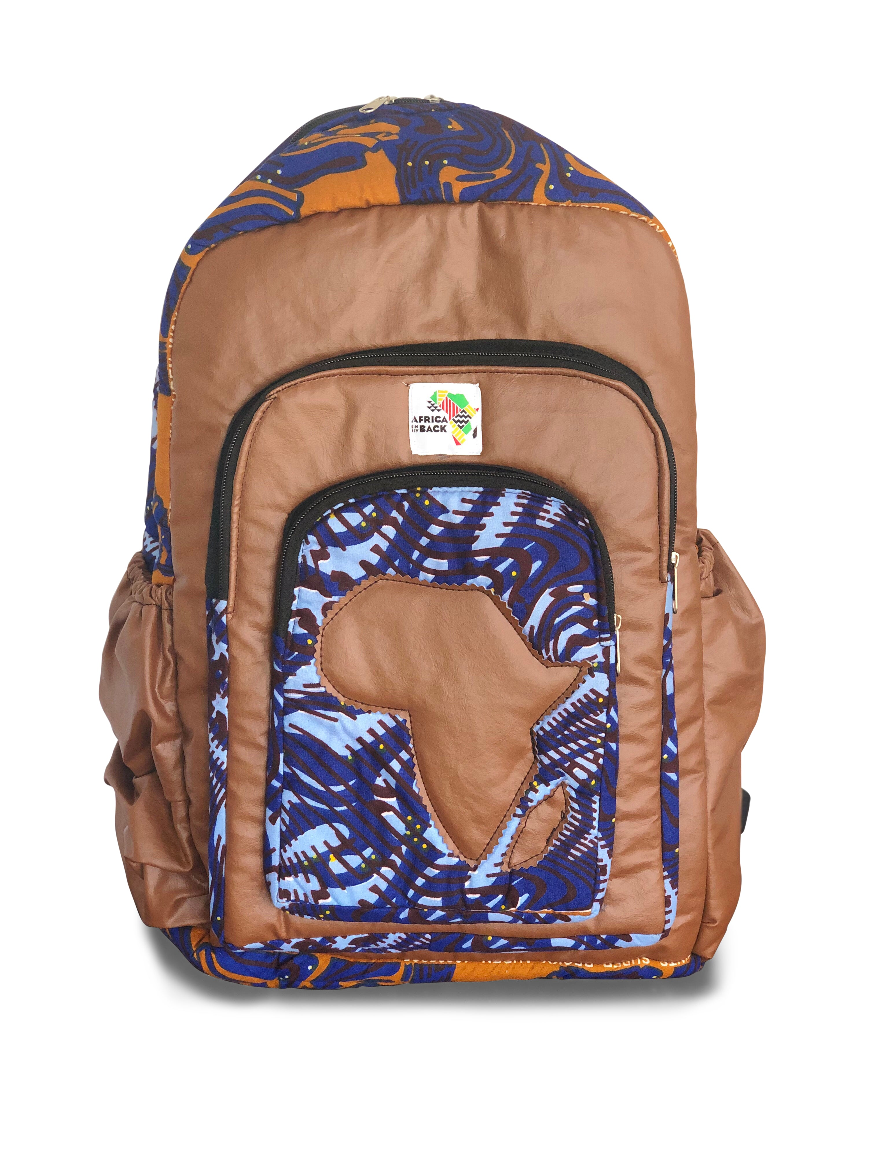 Limited Edition Africa Full Size Backpack (Brown Continent)