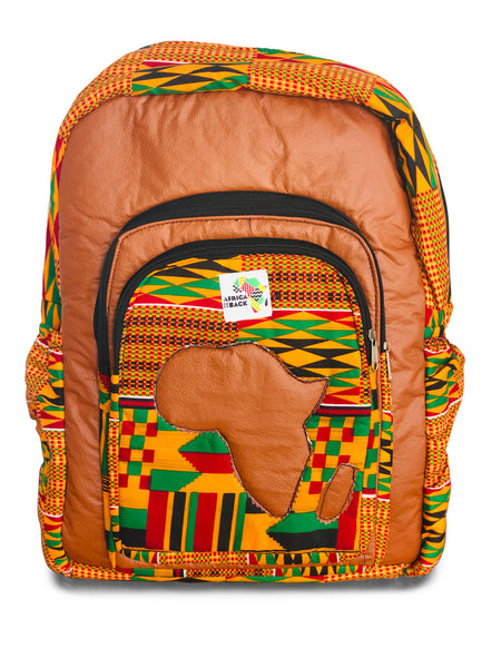 Limited Edition Africa Full Size Backpack (Tan Continent)
