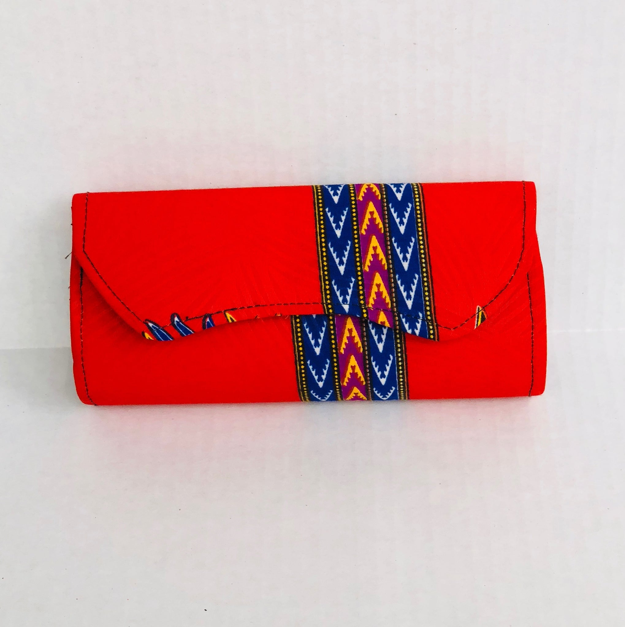 Clutch Small Red/Blue - Africa On My Back Backpack