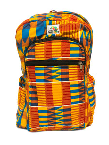 Orange and Blue Goodness Mid Size Backpack - Africa On My Back Backpack
