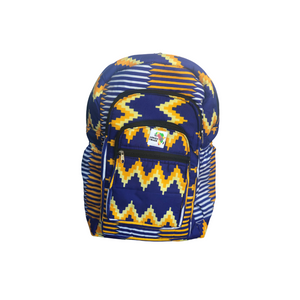 Vibrant - Blue and Gold Full Size Backpack
