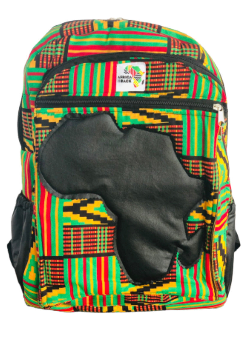 Limited Edition Africa Mid Size Backpack (Queen Mother Green Black Continent)