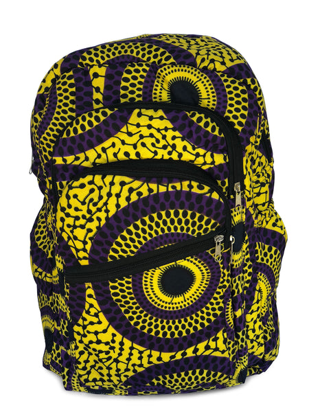 Game Changer 6 -Purple Circles - Africa On My Back Backpack
