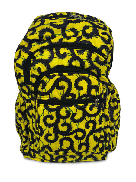 Yellow with Vines - Africa On My Back Backpack