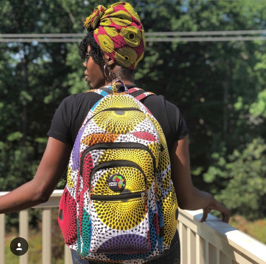 Africa On My Back Buttons - Africa On My Back Backpack