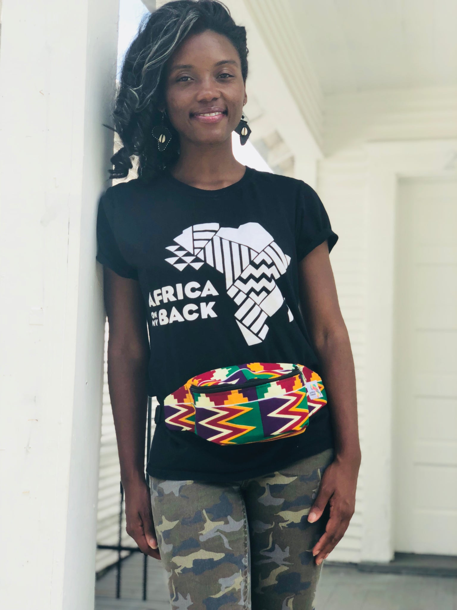 Zig Zag Fanny Pack - Africa On My Back Backpack