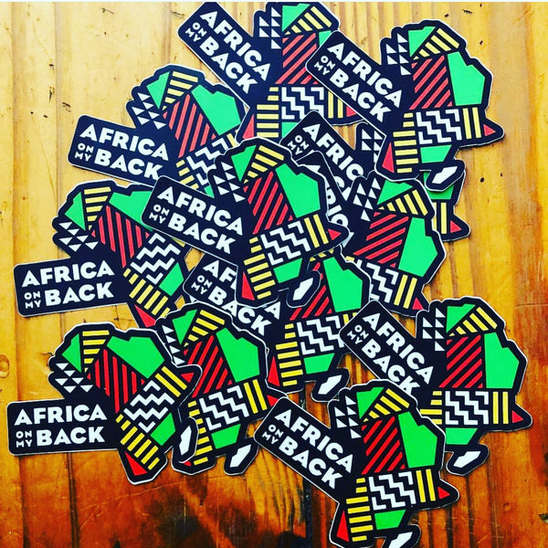 Africa On My Back Sticker - Individual - Africa On My Back Backpack