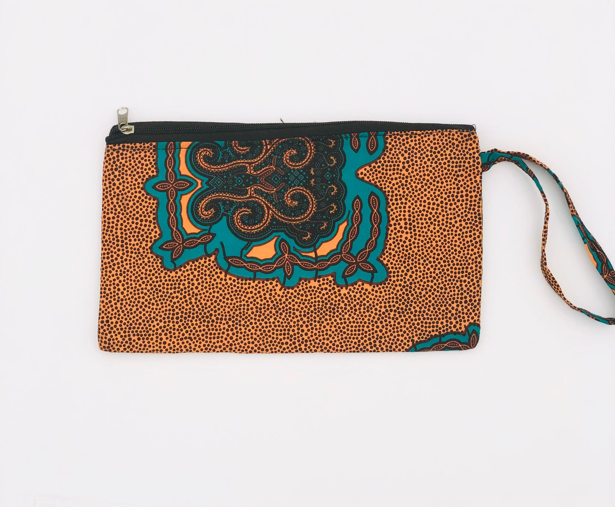 Burnt Orange Clutch Wristlet