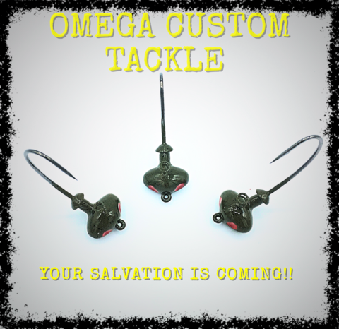 The Salvation is the latest bait from Omega Custom Tackle this. The skirt collar allows you to combine your favorite skirt with your go to compact trailer. We are prepping our inventory and expect this to be available very soon!!