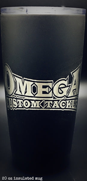 Omega Custom Tackle Laser Etched Insulated Mug 20oz
