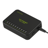 Xentris 120W 10-Port Smart Charging Hub - Black
