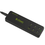 Xentris 58W 6-Port Smart Charging Hub - Black