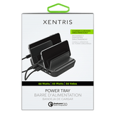 Xentris Power Tray - Black for Iphone for Galaxy S7/S6/Edge/Plus, Note 5/4 and PowerIQ for iPhone X / 8 / 7 / 6s / Plus, iPad Pro/Air 2/mini, LG, Nexus, HTC and More