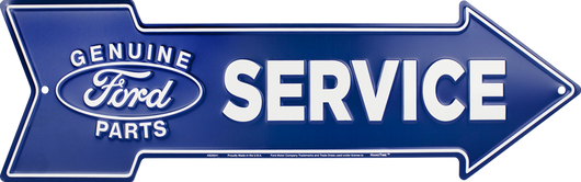 Sign - Genuine Ford Service Arrow