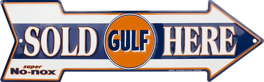 Sign - Gulf Sold Here Arrow