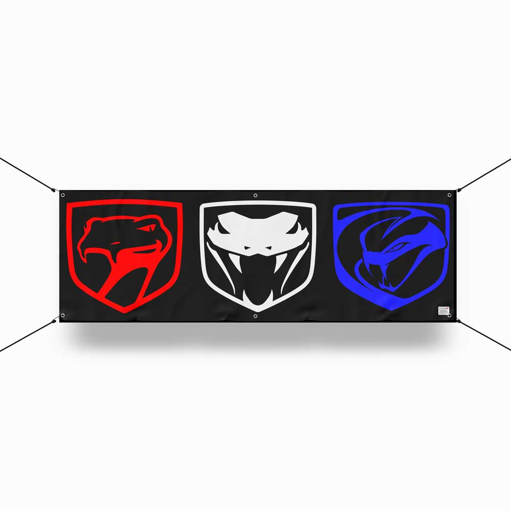 Banner - Dodge Viper Tri-logo - Multiple color options
