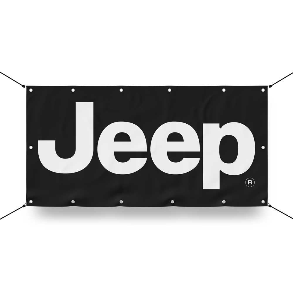 Banner - Jeep® Text (color options)