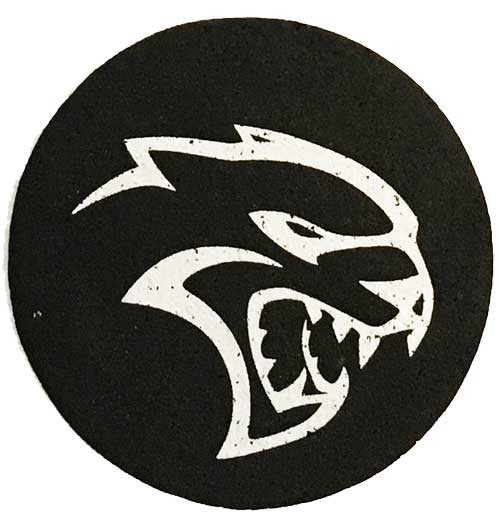 Rubber Coaster Set SRT Hellcat Detroit Shirt Company