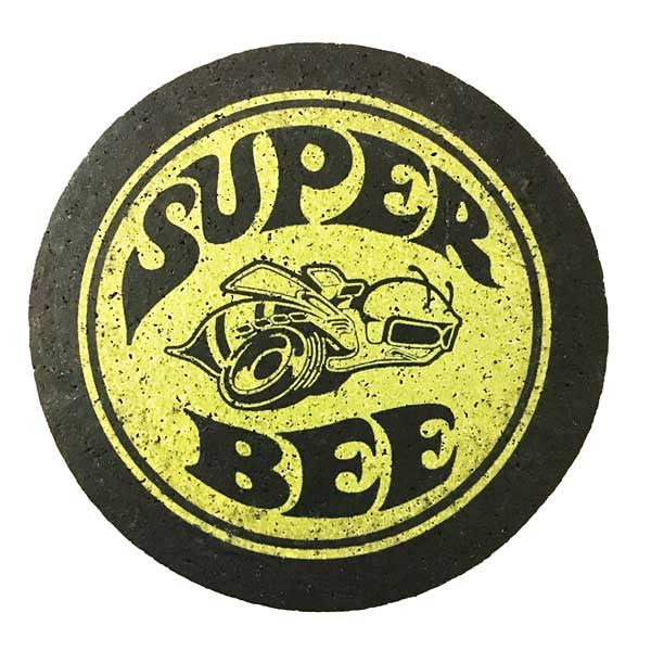 Super Bee-Coasters-Detroit Shirt Company Coaster Set - Vintage Dodge Charger Challenger Made from recycled tires and indestructable Coasters Detroit Shirt tshirt t-shirt apparel and housewares Company