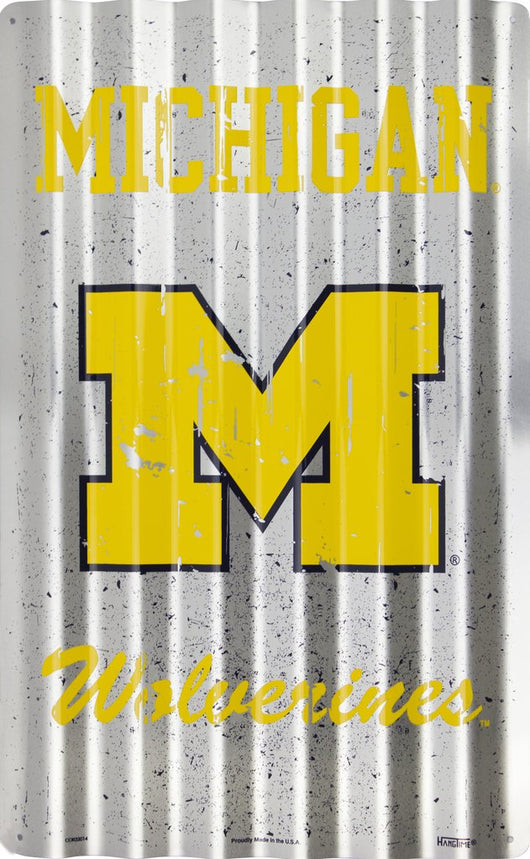 Sign - Michigan Wolverines Corrugated