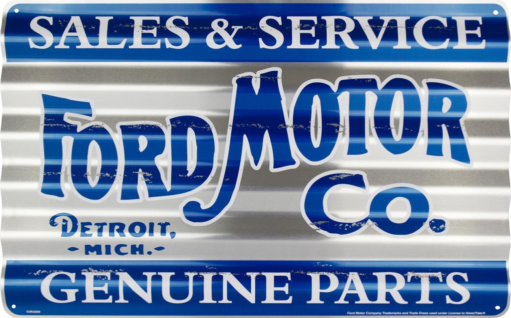 Sign - Ford Sales and Service Corrugated