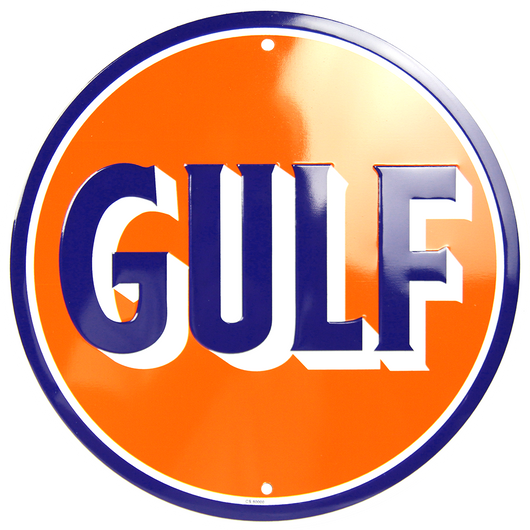 Sign - Gulf Oil Circle Sign