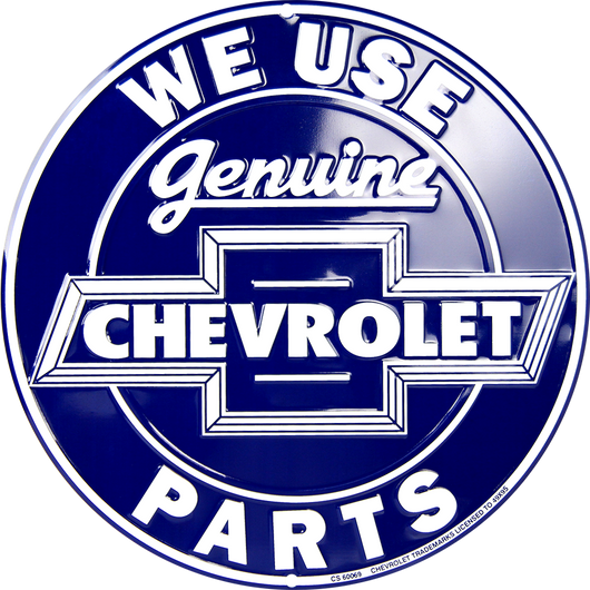 Sign - Genuine Chevrolet Parts Circle