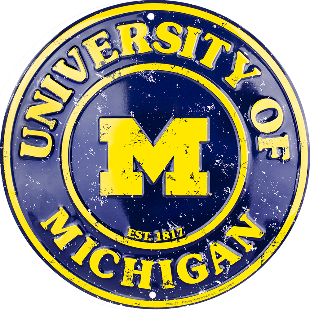 Sign - Michigan Wolverines Circle