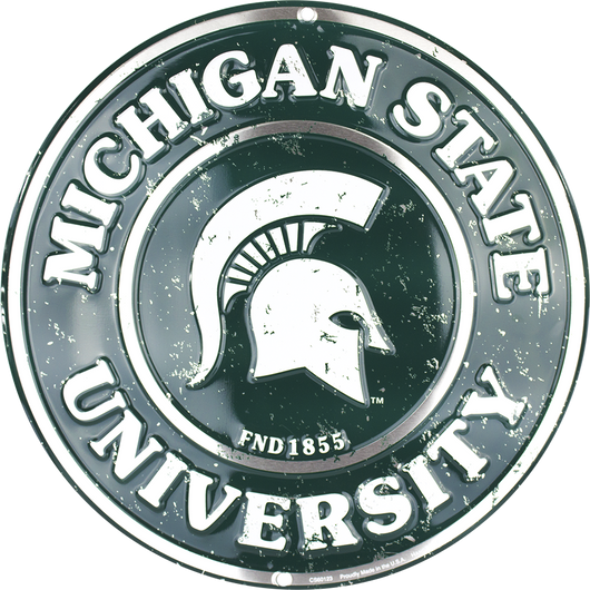 Sign - Michigan State Spartans Circle