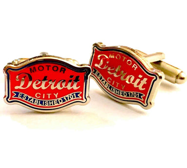 Cufflinks - Detroit Buckle suit shirt Accessories-Detroit Shirt tshirt t-shirt and accessories Company