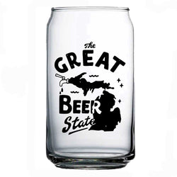 Can Glass - The Great Beer State Michigan