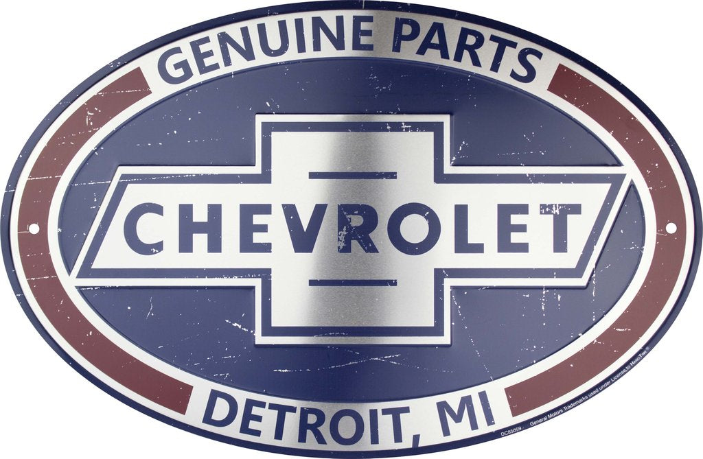 Sign - Chevrolet Parts Oval