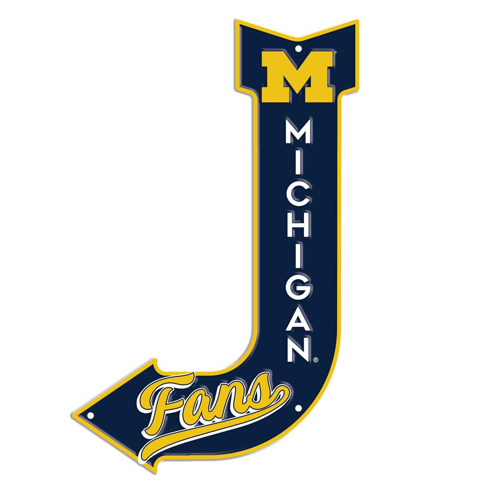 Sign - Michigan Wolverines Fans J Arrow