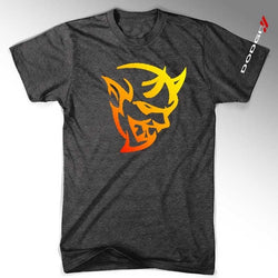 Mens New Dodge Demon Fire T-shirt (Heather Black) | Detroit Shirt Co.