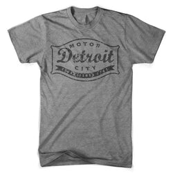 Mens Triblend Detroit Buckle Blackout T-shirt (Grey) | Detroit Shirt Co.