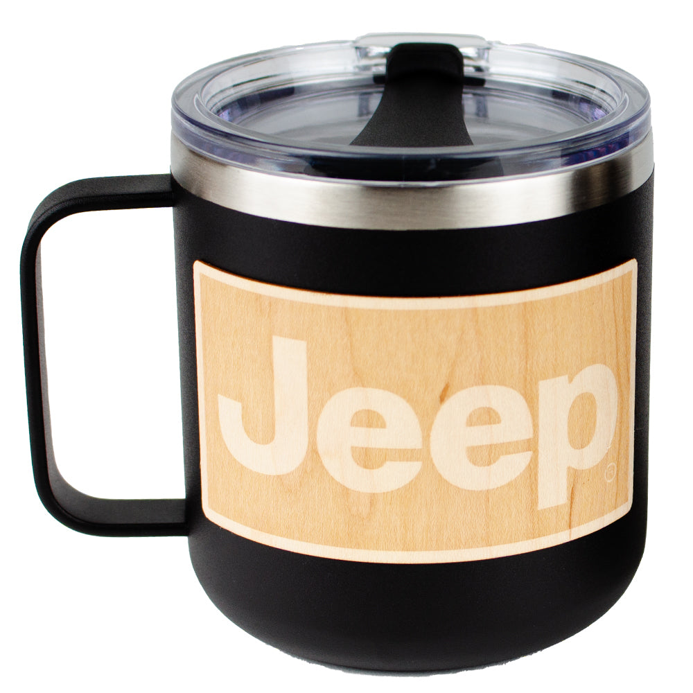 Mug - Jeep® Wood Decal Powder Coated Camper - Black
