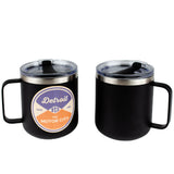 Mug - Detroit Reel Wood Decal Powder Coated Camper - Black