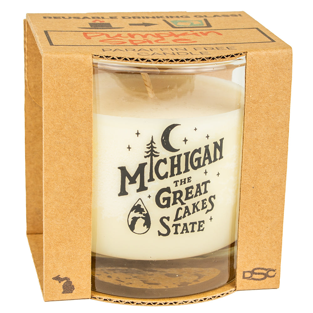 Candle - Michigan Vintage Font - various scents