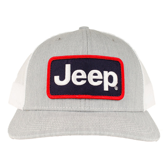 Hat - Jeep Richardson Patch Hat - Heather Grey/White