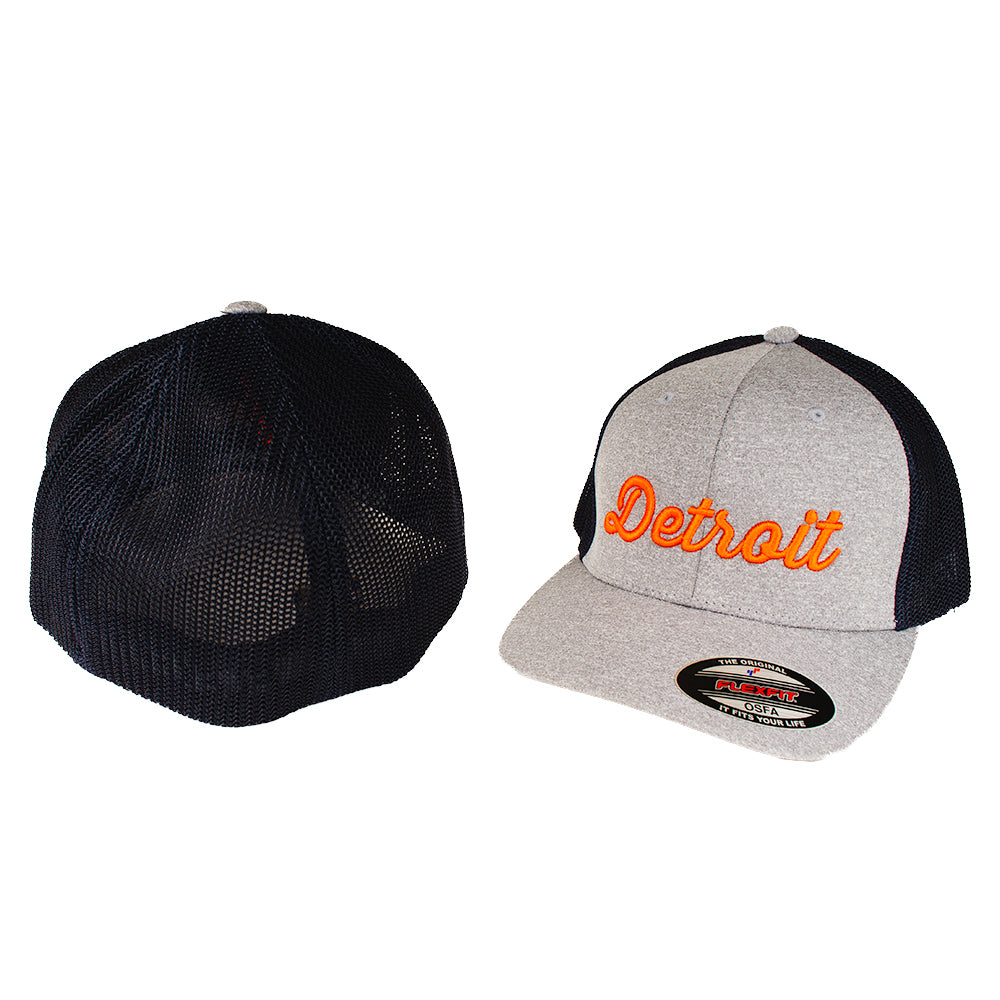 Hat - Detroit Thirsty Orange Richardson Snapback - Heather Grey/Navy
